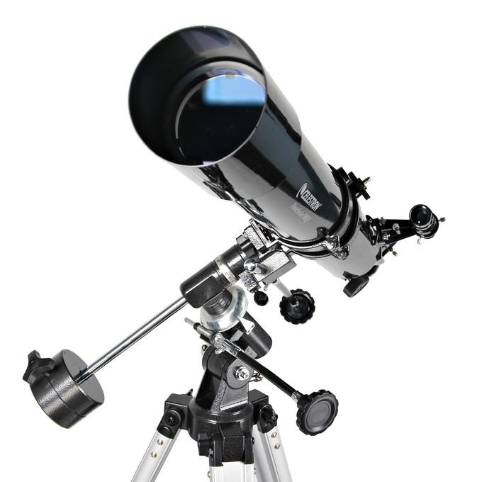 Obiektyw posiada 80 mm średnicy